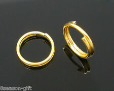 400 Gold Plated Double Loop Split Open Jump Rings 8mm