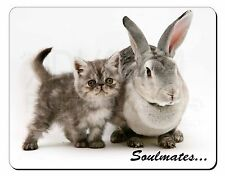 Rabbit and Kitten 'Soulmates' Sentiment Computer Mouse Mat Christmas G, SOUL-11M