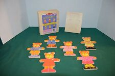 Melissa & Doug Wooden Bear Dress-Up 18 piece Puzzle Set
