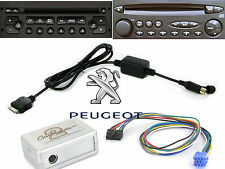 Ctapgipod 010.2 Peugeot 206 Ipod Adaptador Interfaz 2002 en adelante RD3 Radio iPhone