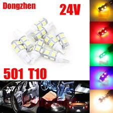 1X 24V 501 T10 W5W DRL PUSH WEDGE 9 LED 360 DEG XENON WHITE SIDE LIGHT BULBS
