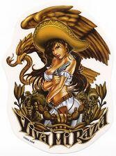 ULTRA RARE Viva Mi Raza SEXY MEXICAN CHICA & Smoking Gun VINYL STICKER/CAR DECAL