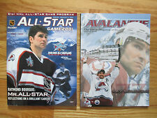 2 RAY BOURQUE Last ALL STAR Game and Retirement  Program for Colorado Avalanche