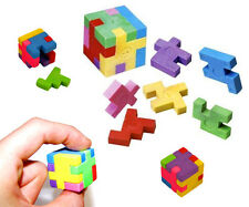 Novelty Puzzle Eraser Rubber Cube Japanese Style Puzzle Pieces School Party Bags