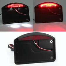 Black Motorcycle side mount license plate bracket tail light For Harley Choppers