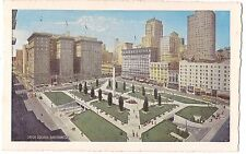 UNION SQUARE Garage Buildings San Francisco CALIFORNIA Vintage Postcard CA