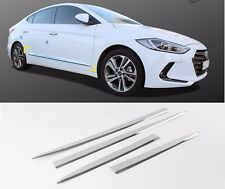 SAFE Side Under Skirts Chrome Molding 4Pcs For Hyundai Elantra Avante AD 2017+