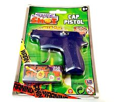 Sure Shot Cap Toy Pistol With 250 Roll Caps For Childrens Outdoor Play Game