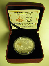 2014 Proof $15 Chinese History Traditions #4-Maple Longevity Canada .9999 silver