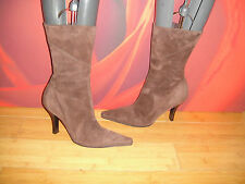 *74* SUPERB KENNETH COLE BROWN LEATHER SUEDE ANKLE BOOTS UK 4