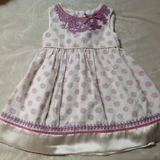 Pretty Monsoon Baby Girl Dress 6-12 Months Fine Lightweight Baby Cord