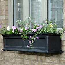 "New Mayne Fairfield 48"" Window Box Outdoor Flower Planter - Black 4'"