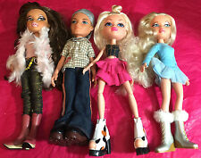MIXED LOT OF 4 PREVIOUSLY PLAYED WITH BRATZ DOLLS LOT A5
