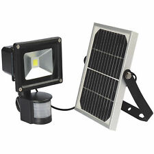 10W LED Bright Solar Powered Security Flood Light + PIR Motion Sensor Waterproof