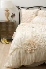 ANTHROPOLOGIE GEORGINA CREAM QUEEN DUVET COVER *BRAND NEW*