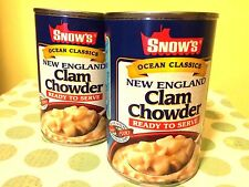 3 Pack~SNOW'S Ocean Classics New England Clam Chowder~Ready to Serve~15 oz Cans
