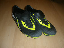 A1.3 Men's Black & Green Reebok Italy Athletes Leather Cleats Size 10.5