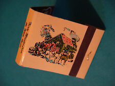 1980s Matches Matchbook: MRS. K's Toll House Restaurant, Silver Spring, MARYLAND