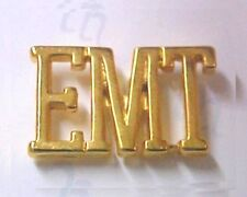 "EMT Cut Out Letter Pin Gold Plated Medical Collar Cap Lapel Prestige 1/2"" New"