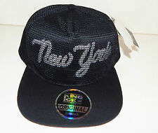 men womens black snapback  hat dope peak baseball NEW YORK  logo mess net finish
