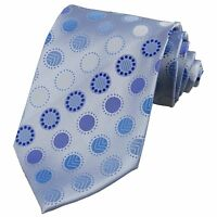 Light Blue Polka Dot Men's Neck ties Necktie Groom Party Wedding Handmade JP197