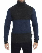 NWT $340 COSTUME NATIONAL C'N'C Gray Blue Turtleneck Sweater Pullover IT48 / M