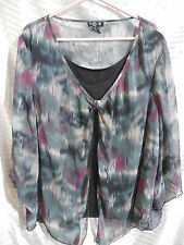 Woman's Ivy Chic 3X Blouse Plus Size Pullover