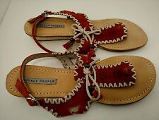 Womens Leather Sandals Boho Hippy Chic Lagenlook by Lovely People Size 9 - 9.5 M