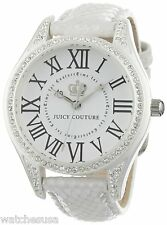 Juicy Couture Women's Lively White Leather Strap Watch 1900744