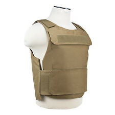 NcStar Discreet Lightweight Plate Carrier Tactical Vest Police SWAT M-XXL TAN
