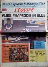 L'Equipe Journal 11-12/8/1990; PSG-Montpellier/ Alesi/ Tourret/ Nicoletta