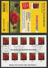 Bund Folienblatt 7 gest. 10 x 2675  Rose mit Duft!!! 2010  Tages Vollstempel (1)