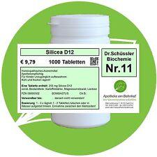 Schüßler - Salz 11 Silicea D12 1000 Tabletten PZN 08000502