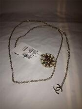 CHANEL Jeweled Pearl Enamel Embellished Medallion Chain Belt Necklace $2450