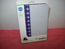 "Belkin Leather Folio Stand Case mod Cover for Nexus 10"" Gray/Purple dot,New open"