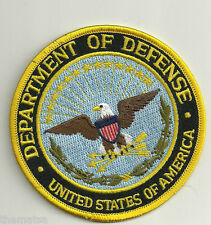"""DOD DEPARTMENT OF DEFENSE OFFICIAL EMBROIDERED 4"""" NEW   PATCH"""