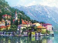 Howard Behrens Reflections of Lake Como Landscape Italy Print Poster 18x24