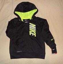 NWT Nike Boys Toddler KO 3.0 GFX 1/2 Zip Hoody Sweatshirt Therma Fit Black SZ 7