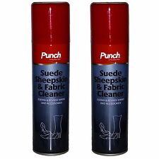 2 x Punch Boot Shoe Spray Cleaner Fabric Leather Suede UGG Trendy #150171