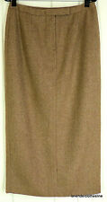 Lauren Ralph Lauren 12 Brown Tweed Lambswool Long Maxi Skirt