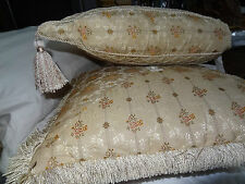 Ethan Allen Kensington Pagoda Pillow and Kensington Miter Pillow - 2 Total - USA