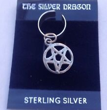 Sterling Silver Handmade Pentacle Cuff Earring -New-Pagan/Wicca/Stud/No Stone