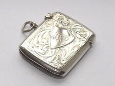 Bell 'antico James Deakin in Argento Sterling Silver Vesta Case Chester 1915