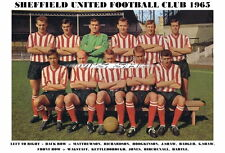 SHEFFIELD UNITED F.C.TEAM PRINT 1965 (JONES/HARTLE/BIRCHENALL/RICHARDSON)