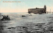 B23/ Galveston Texas Tx Postcard c1910 Surf Bath House Building