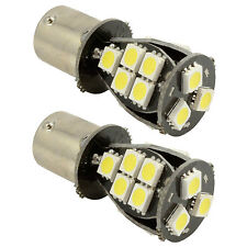 2x 1156 BA15S Canbus Xenon White Car 18 SMD LED Tail Reverse Light Bulb 382 P21W