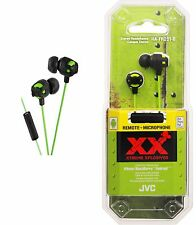 JVC HA-FR201 Xtreme Xplosives Headphones with Remote and Mic - Green