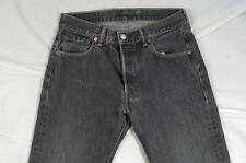 Levi 501 Button Fly Straight Leg Dark Denim Jeans Tag 30x30 Measure 30x30