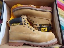 "Mens Caterpillar Holton Steel Toe Cap Safety Boots CAT 6"" Work Boots Size UK11"