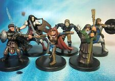 Dungeons & Dragons Miniatures Lot  Adventuring Character Party Unique !!  s100